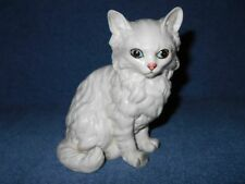 "VINTAGE LEFTON 5 1/4"" WHITE CERAMIC PERSIAN CAT FIGURIE  # 1514 BLUE EYES - NICE"