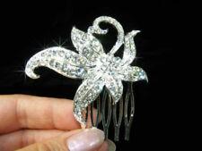 Peinetas de novia de color principal plata para el cabello