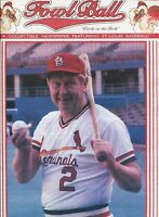FOWL BALL - ST LOUIS CARDINALS COLLECTIBLE NEWSPAPER - RED SCHOENDIENST COVER