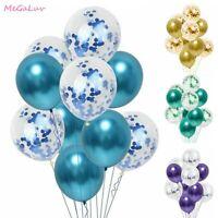 10Pcs 12 Inch Sequins Confetti Latex Balloon Birthday Party Wedding Decoration
