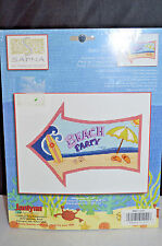 """BEACH PARTY COUNTED CROSS STITCH KIT 10"""" X 8""""  BY JANLYNN NEW UNOPENED"""