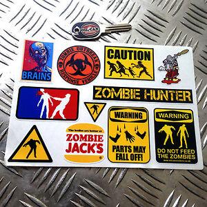 Zombie Sticker Set, 11x Stickers