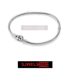 Authentic Pandora Sterling Silver Bracelet with Pandora Lock 7.5 590702HV-19