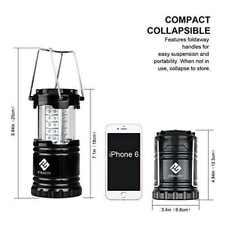 2 Pck Portable indoor Outdoor LED Camping Lantern Flashlights Hiking Collapsible