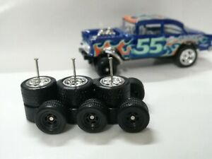 Hot Wheels 1/64 Rubber Wheels Real Riders Chevy Gasser Wheels 10/12mm 3 sets