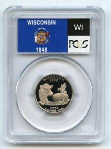 2004 S 25C Clad Wisconsin Quarter PCGS PR70DCAM