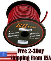 12 Ga Gauge Red Black Speaker Wire 12V Auto Remote Hookup Power Cable CCA 100 FT