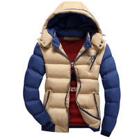 Winter New Jacket Fur Collar Parkas Hooded Coat Mens Zipper Thick Warm Duck Down