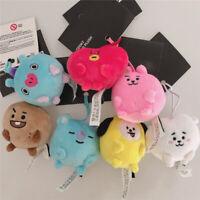 Kpop BTS Mini Plush Pendant Doll Key Ring CHIMMY COOKY RJ JUNGKOOK Stuffed Toys