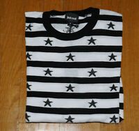 Just Cavalli Mens White/Black Starts Cotton Crewneck Sweater Medium