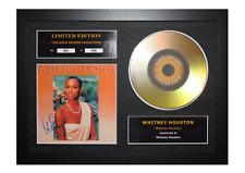 More details for whitney houston signed gold disc album ltd edition framed picture memorabilia
