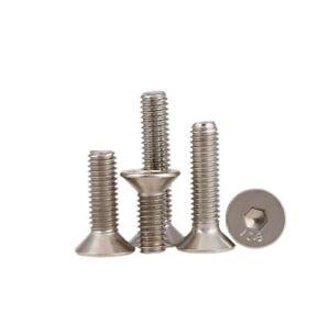 5-50Pcs M1.6M2-M8 DIN7991 10.9 Grade Nickel Plated Countersunk Hex Socket Screws