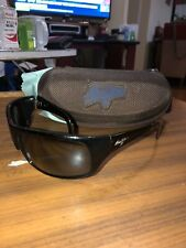 MAUI JIM PEAHI SUNGLASSES BLACK WRAP AROUND SUNGLASSES