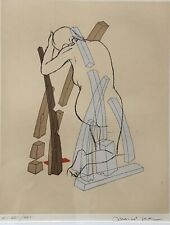 Surrealist Marcel Jean (French 1900-1993) Composition with Female Nude