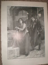 Play Resurrection from Tolstoy at His Majesty's Theatre London 1903 print ref X