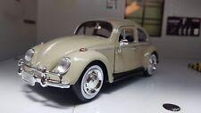 1:24 VW Beetle 1300 Savannah Beige Classic Motormax Diecast Detailed Model 1966