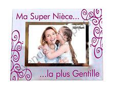 """Cadre photo """"Ma Super Nièce ... la plus gentille"""" horizontal idée cadeau neuf"""