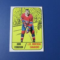 JOHN FERGUSON  1967-68  Topps  # 69   Montreal Canadiens  1968 1967  67-68   EX