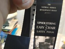 Vintage Film Stock - Upholstering Easy Chair With Latex Foam - Film Strip In Can