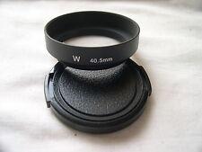 New Metal Wide Angle 40.5mm Screw-in Lens Hood + Cap