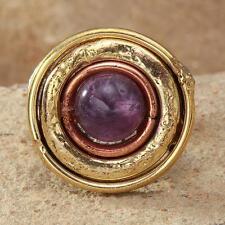 New Tara Mesa 3.19ctw Amethyst Medallion Ring ~ Size 7 Adjustable