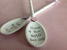 Personalised Wooden Spoon Christmas Gift Mum Nan Nanny Granma Gran Aunt Teacher