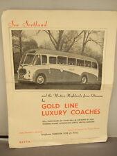 See Scotland - Gold Line Luxury Coaches Advertisement