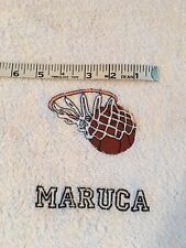 Free personalizing New Custom machine embroidered basketball towel