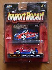 Jada Toys Diecast Import Racer Toyota MR-2 Spyder Red Blue MOC 1.64 2003