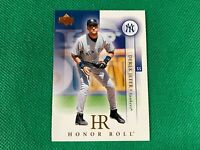 2003 Upper Deck Honor Roll #1 Derek Jeter New York Yankees