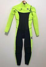 Hurley Childs Full Wetsuit Kids Size 6 Phantom 2/2 Juniors Youth Chest Zip Neon