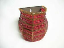Partylite MOROCCAN SPICE Red Glass Beaded Wall SCONCE Votive Candle Holder