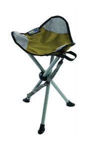 TravelChair Slacker Chair, Super Compact, Folding Tripod Camping Stool Green