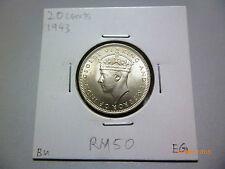 Malaya 20 Cents 1943 - BU
