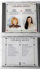 DEUTSCHES SCHLAGER-ARCHIV (J) Bibi Johns/Andrea Jürgens .91 SonoCord Club CD TOP