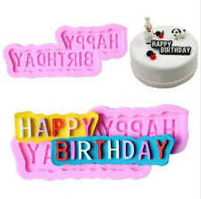 FD2994 Happy Birthday Silicone Fondant Mould Cake DIY Chocolate Baking Mold Gift