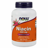 Slow Timed Release Niacin 500mg 250 Tablets | Vitamin B3 Energy | Cardiovascular