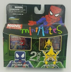 INSULATED SPIDER-MAN & ELECTRO MARVEL UNIVERSE MINIMATES