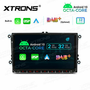 """9"""" Android 10 8-Core 2+32G Car Auto Play GPS Stereo Radio Head Unit DSP For VW"""
