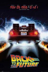 """Back To The Future - Movie Poster (Delorean) (Size: 24"""" X 36"""")"""