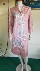Vtg 70s Alfred Shaheen Chrysanthemum Signed Hawaiian Resort Cruise Shirt Dress M