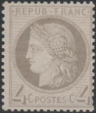 "FRANCE STAMP TIMBRE N° 52 a "" CERES 4c GRIS-JAUNATRE 1872 "" NEUF xx TTB  J893"