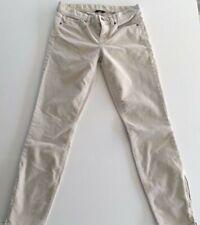 J.CREW Toothpick Womens Skinny Slim Pants Beige Corduroy Zipper Ankle Bottoms 26