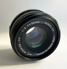 Minolta Rokkor 50mm F2 Prime Lens