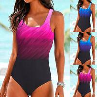 Womens Swimming Costume Padded Swimsuit Monokini Push Up Bikini Sets Swimwear US