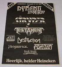 Dynamo Open Air PROMO-Metal-Magazine1987 Testament,Stryper;King Diamond Jonny Z
