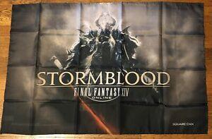"Final Fantasy XIV RPG Stormblood Flag Banner Poster Promo Advertisement 40 X 27"""