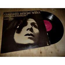 PIA COLOMBO chante BERTOLT BRECHT & KURT WEILL - DISC AZ Lp 1970's