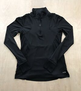 C9 by Champion Womens Long Sleeve Top 1/4 Zip Active Wear Black Size XS