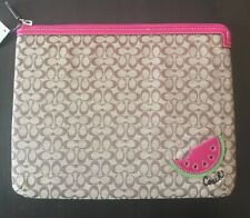 AUTHENTIC COACH WATERMELON TABLET IPAD COVER PURSE